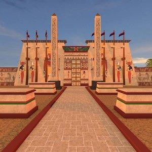 karnak temple c4d