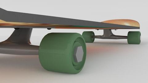 3ds max skateboard
