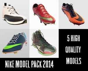 nike shoe pack 2014 3d model