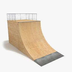 max skate ramp quarter pipe
