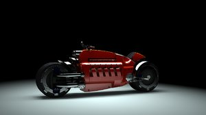 bike motorbike 3d model