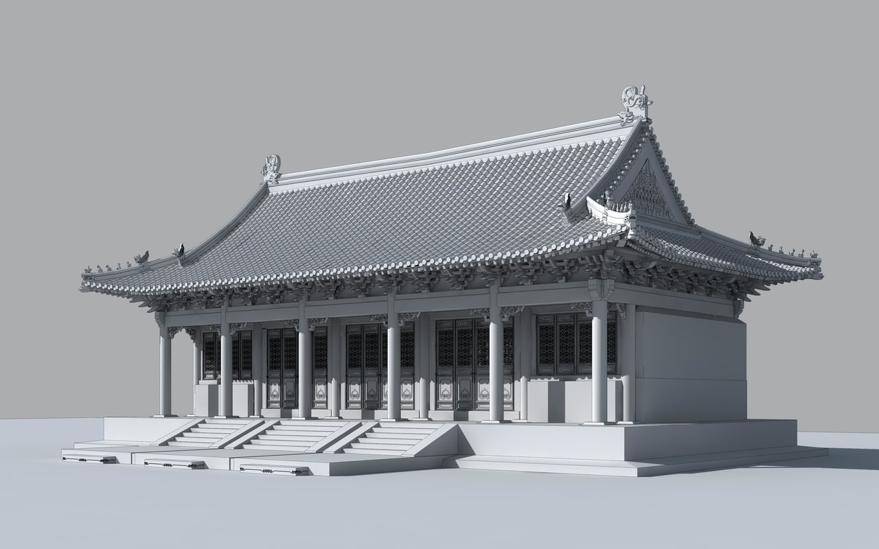 3d model confucius temple