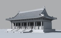 3d model confucius temple