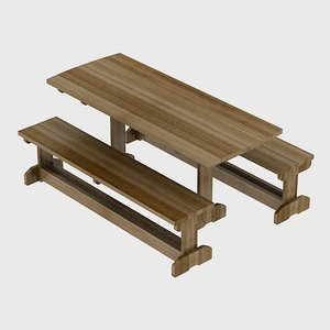 3d set table outdoor
