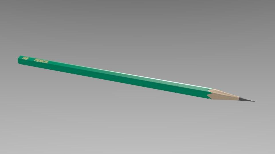 3d model of pencil