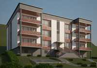 3d modern exterior house model