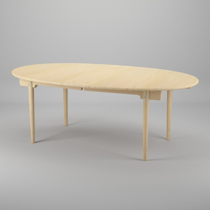 3d table hans j wegner model