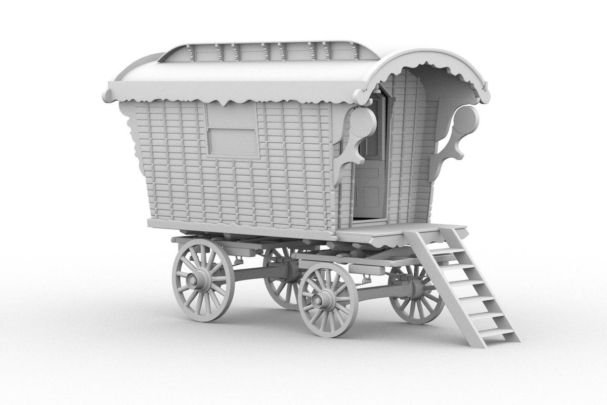 gypsy caravan 3d dxf