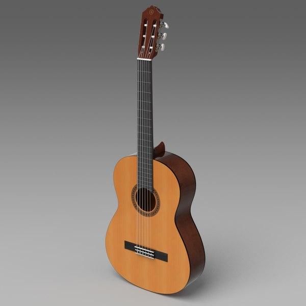 3d classical guitar yamaha c40 model