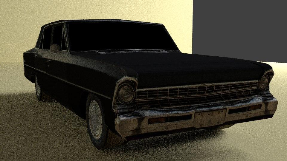 3d chevy nova model