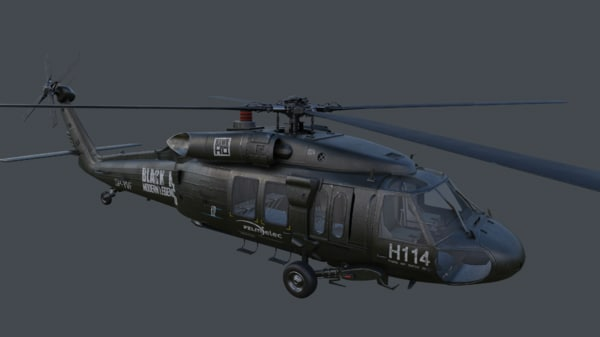 uh uh-60 blackhawk 3d model
