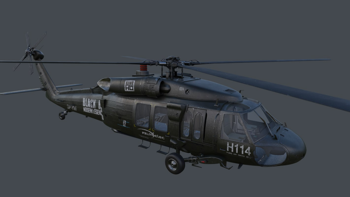 uh uh-60 blackhawk 3d model