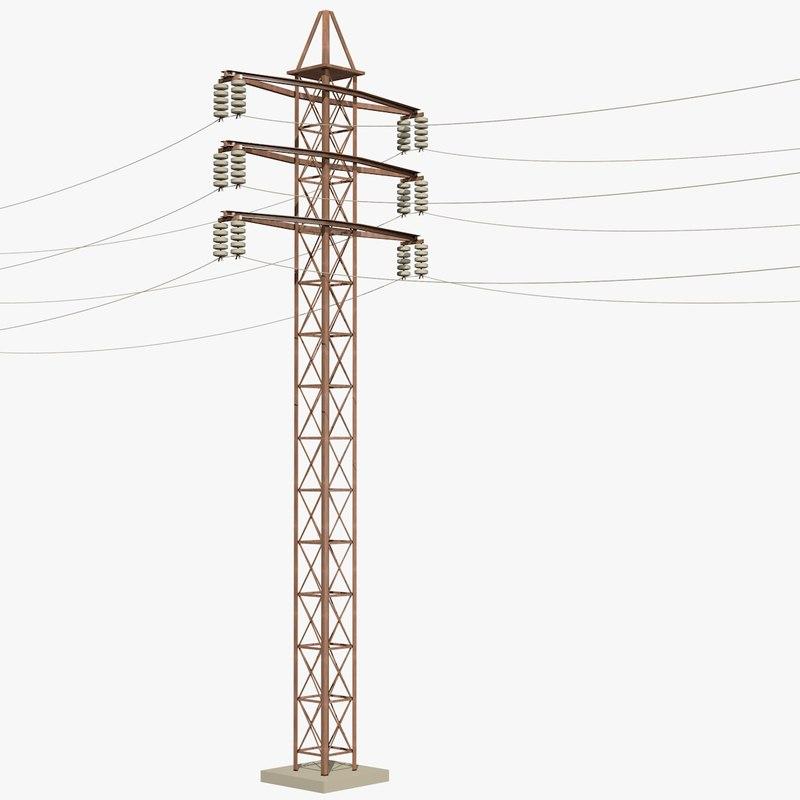 3d model utility pole