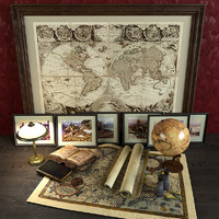 decorative set traveler globe max