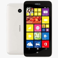 3d model nokia lumia 638 white