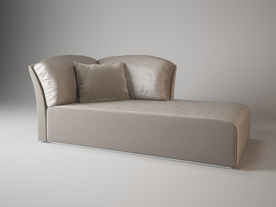 3d model amore chaise lounge fendi