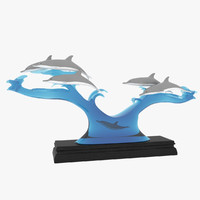 3ds max dolphin statue