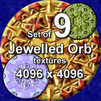 Jewelled Orb 9x Textures
