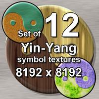 Yin-yang Symbol 12x Textures