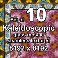 Kaleidoscopic Glass 10x Seamless Textures, set #1