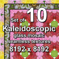 Kaleidoscopic Glass 10x Seamless Textures, set #3