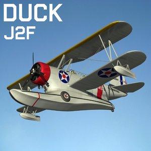 3d j2f duck model