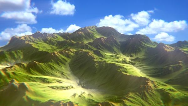 3ds mountain terrain
