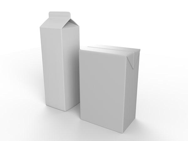 cardboard milk juice obj