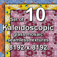 Kaleidoscopic Glass 10x Seamless Textures, set #5