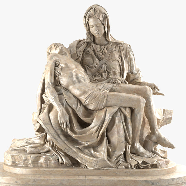 3d obj pieta statue michelangelo