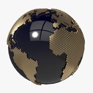 earth honeycomb 3d 3ds
