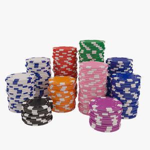3d max poker chips