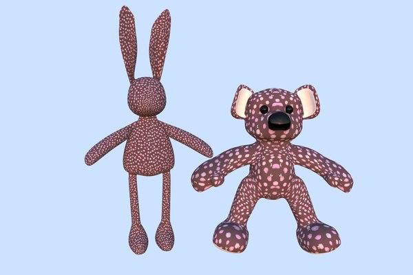 3d model toy rabbit teddy bear