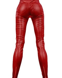 3d female pants leather 2