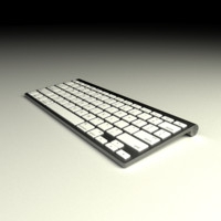 3d model apple bluetooth computer keyboard