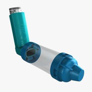 asthma inhaler spacer 3d model