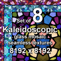 Kaleidoscopic Glass 8x Seamless Textures, set #8