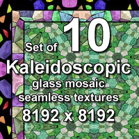 Kaleidoscopic Glass 10x Seamless Textures, set #7