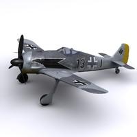 focke-wulf fw jg2 1942 3d model