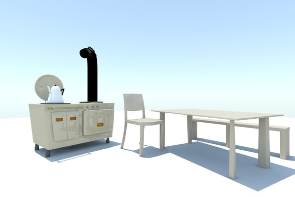 3d model aga table set