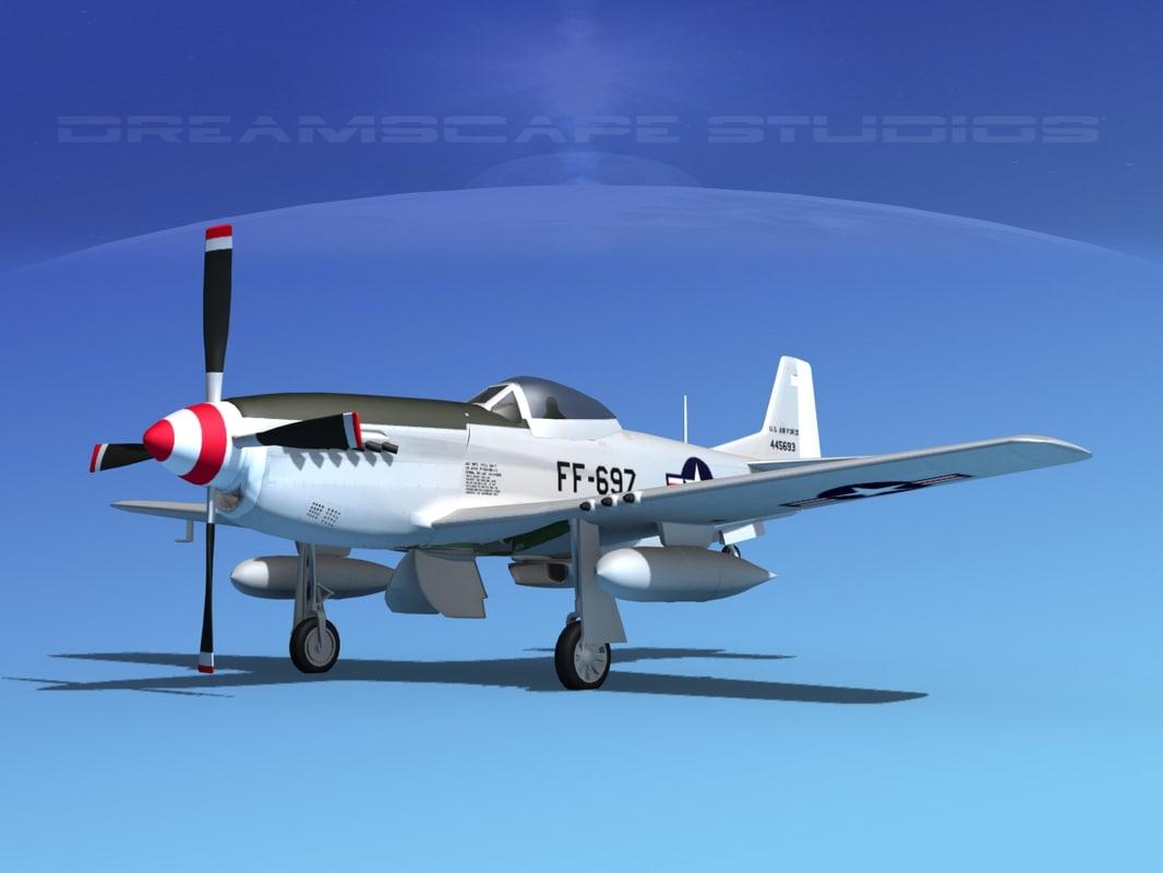 3d cockpit mustang usaf model