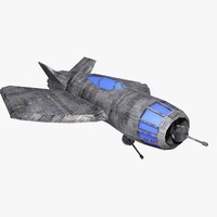 3d model space fighter tigron