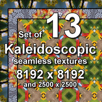 Kaleidoscopic 13x Seamless Textures, set #13