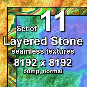 Layered Stone 11x Seamless Textures