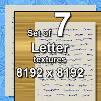 Letter 7x Seamless Textures