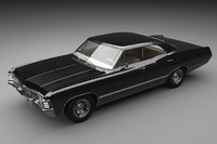 chevrolet impala 1967 3d obj
