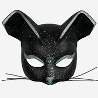 3d model black cat mask