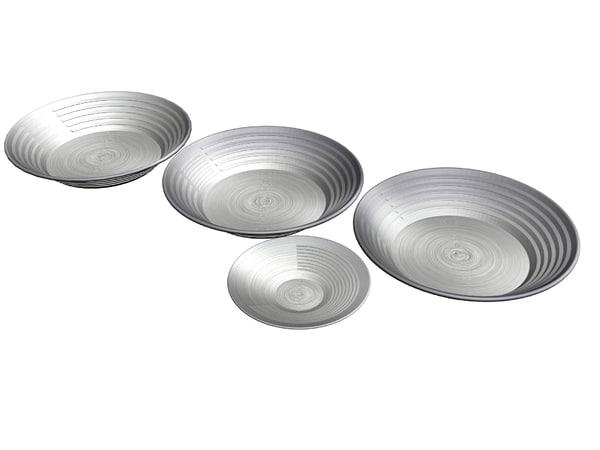 steel gold pans 3d max
