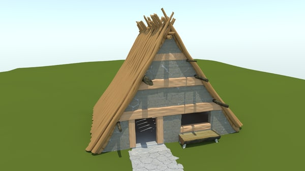 3d obj anglo asterix house