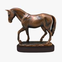 figurine horse statuettes 3d 3ds